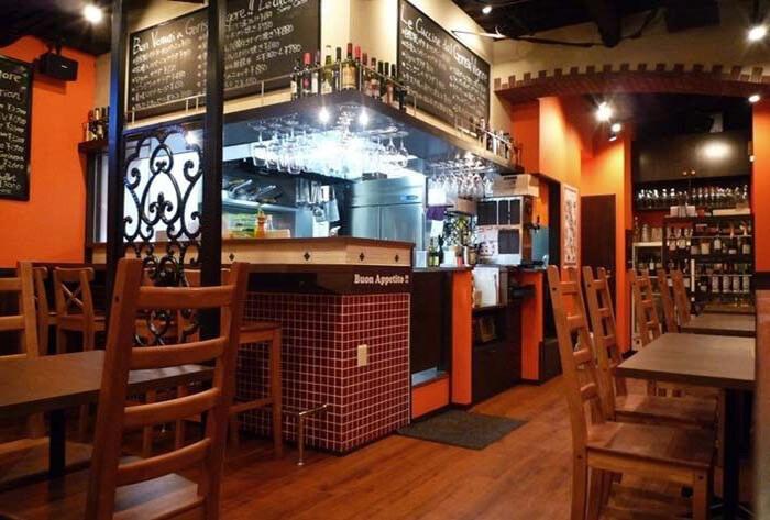 飲食店・イタリアンバルの店舗デザイン・内装事例