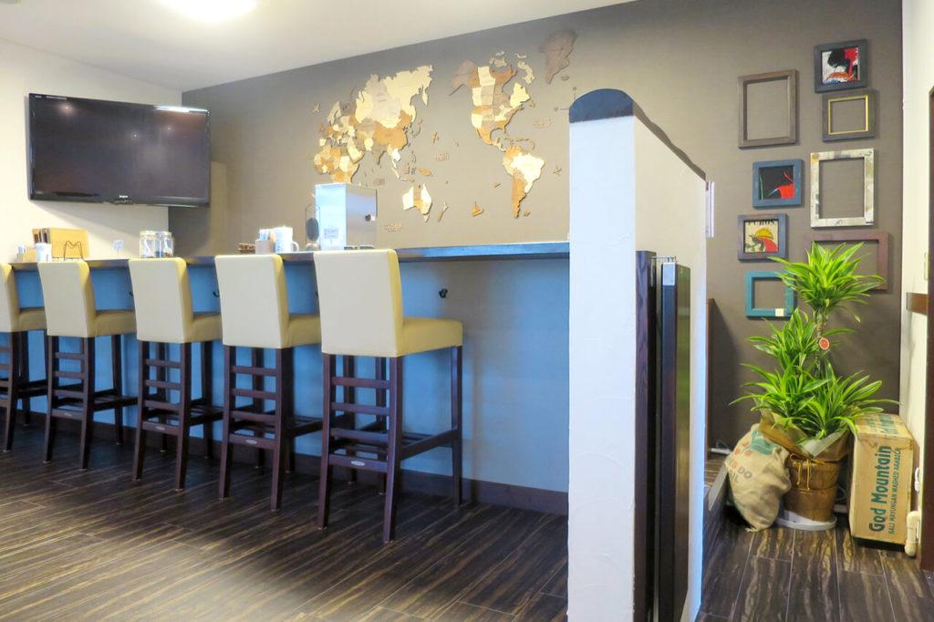 仙台市若林区の珈琲豆とカフェの内装例_カウンター